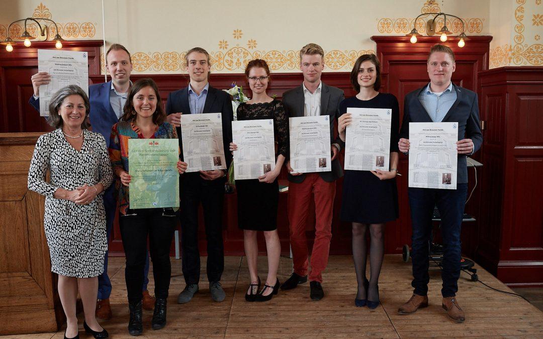 Jan Brouwer Scriptieprijzen: 7 winnaars bekroond