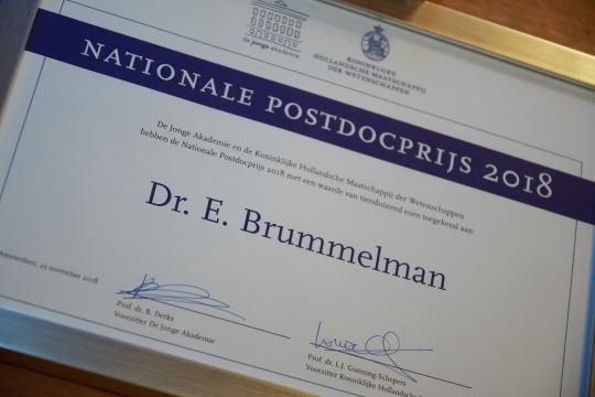 Ontwikkelingspsycholoog wint Nationale Postdocprijs